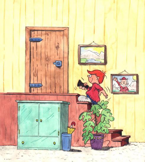Marvin geht auf den Dachboden