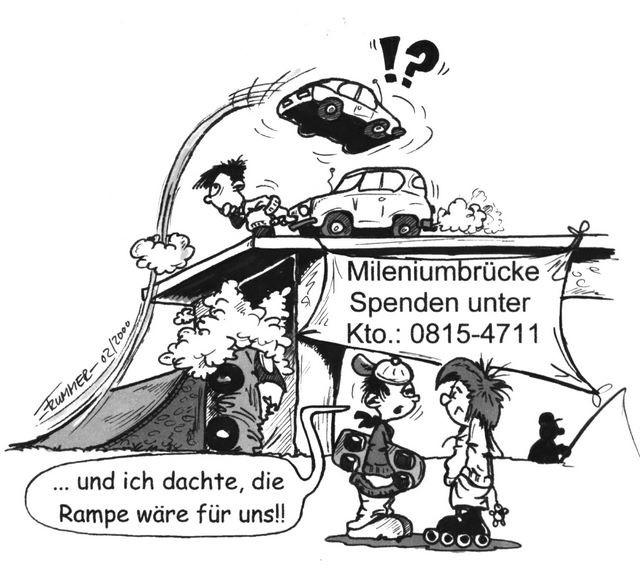 Lange nicht angeschlossen. Die neue Rheinbrücke