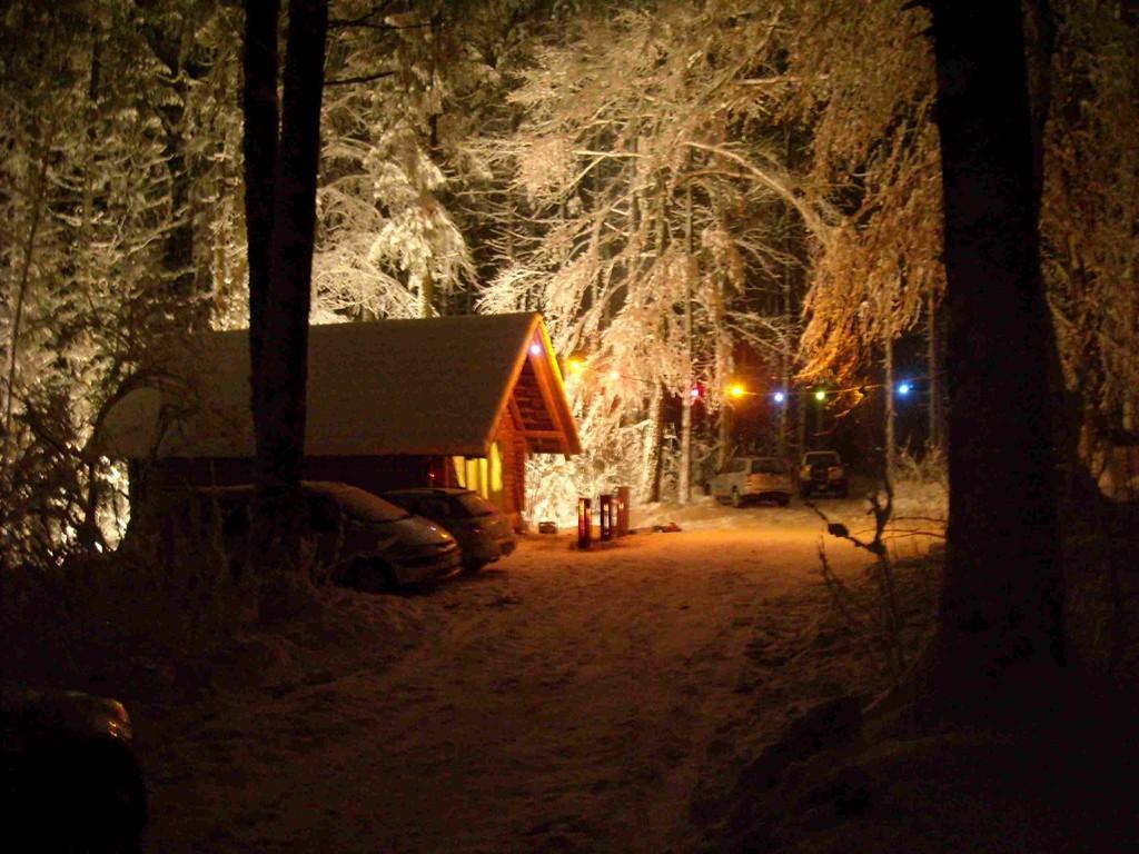Egg-Hütte im verschneiten Wald - einfach traumhaft!