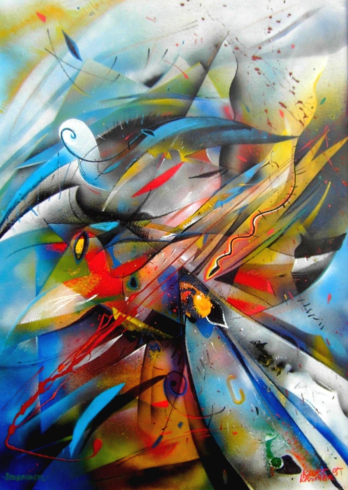 Sturmvogel, 2005 (Öl, 50x60cm)