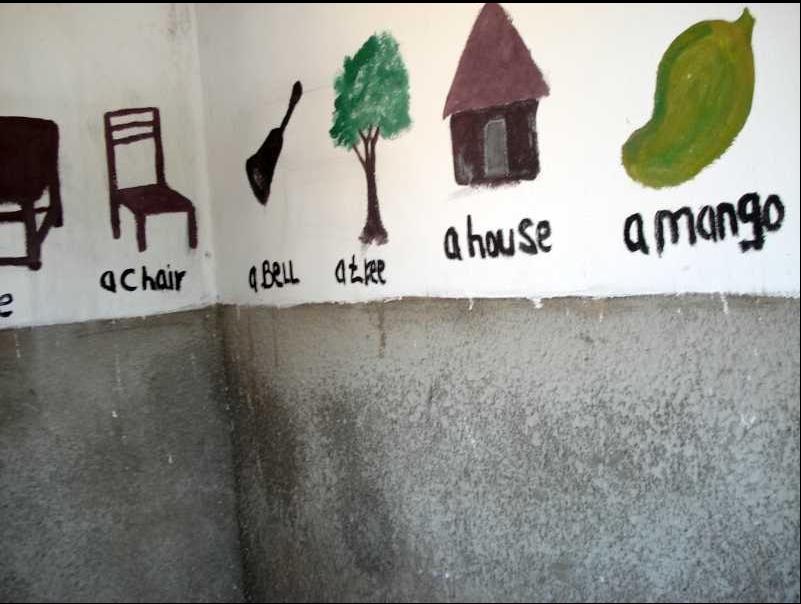 Murales nelle classi prima del 2020