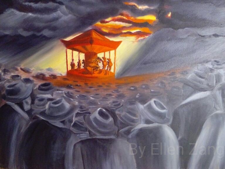 Repression, Öl auf Leinwandmalgrund 50x70 cm