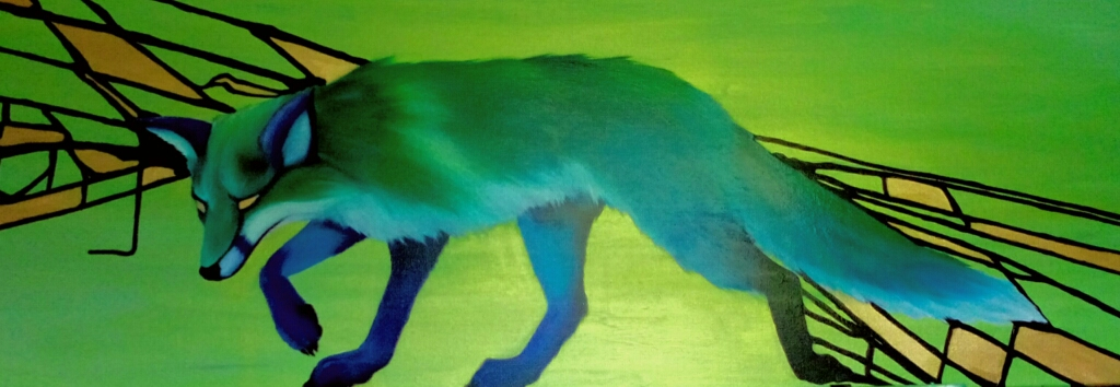 Fuchs,  Öl auf Leinwand  120x40cm