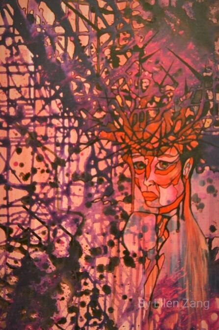 Dornenmadonna, Öl auf Akrylgrund, Leinwand 40x60 cm
