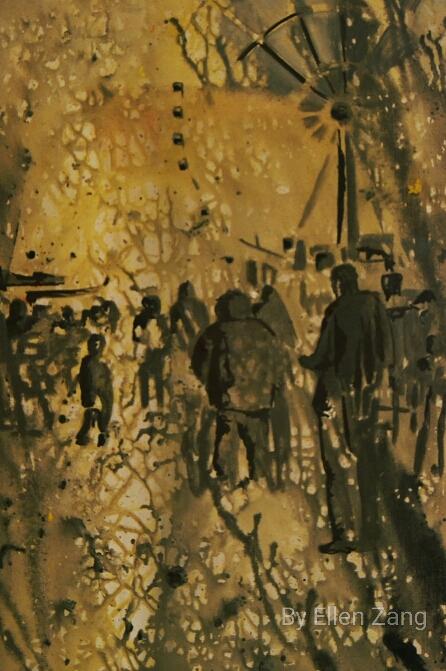 APart of, Akryl auf Leinwand, 50x70 cm