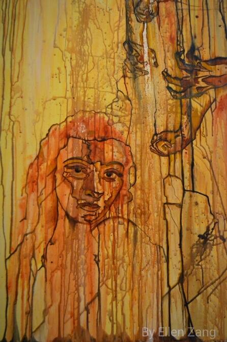 Melankohli(e), Öl auf Leinwand 70x100 cm