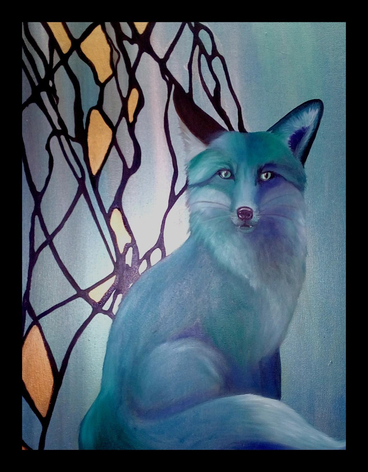 Fuchs, Öl auf Leinwand 40x50cm