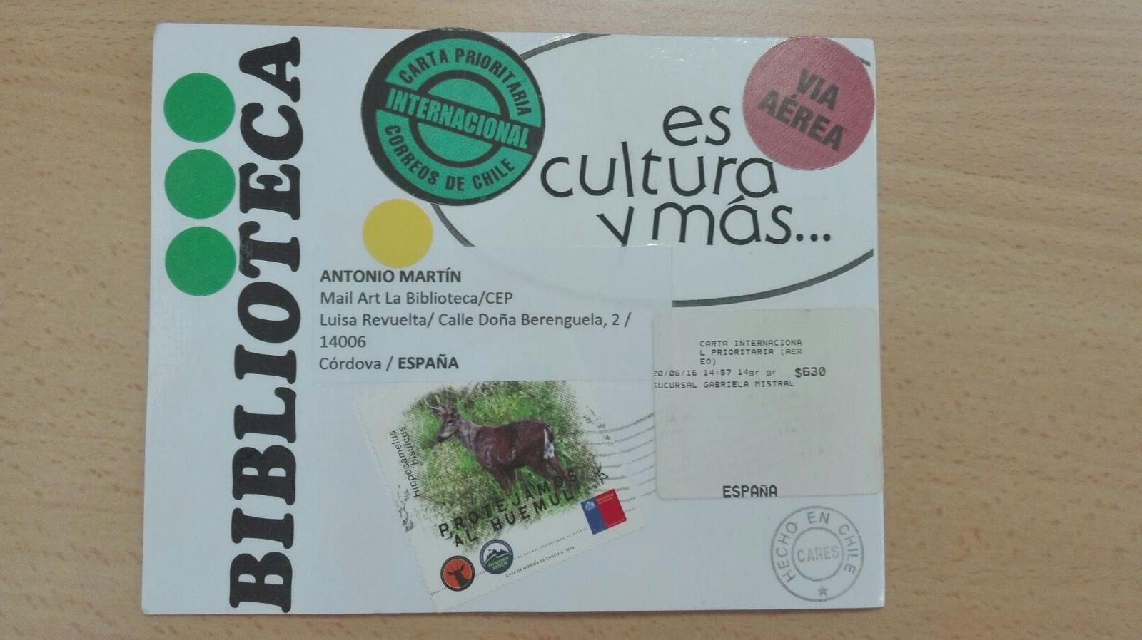 Este trabajo llegó desde Chile, porque la Convocatoria se subió a las redes sociales y a BOEK