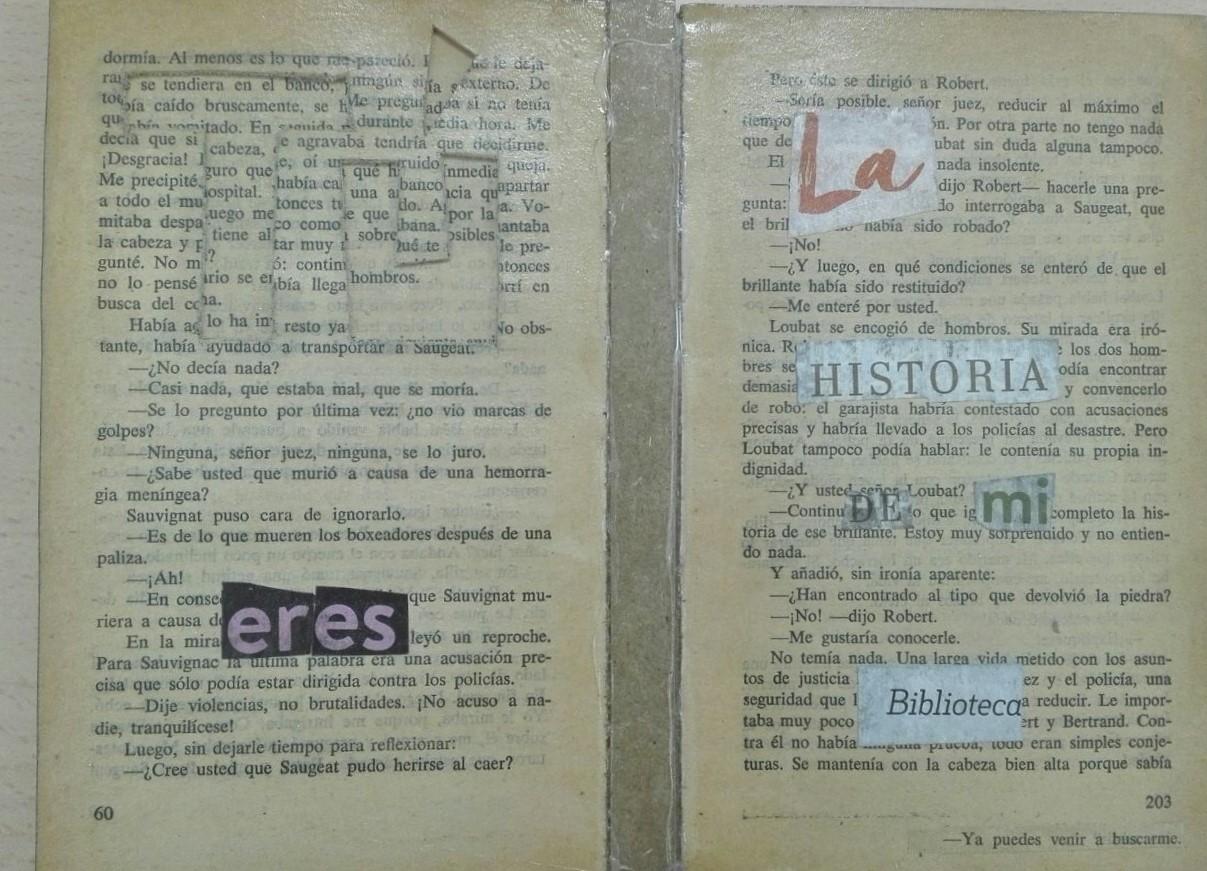 Este trabajo lo presentó Olga Valenzuela, es además un libro de artista