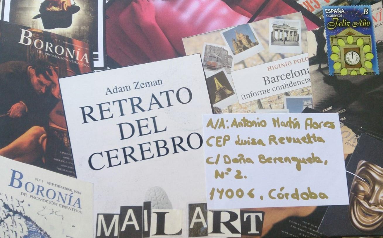 Trabajo de Teresa Hernández (alumna) para una convocatoria de mail art y Bibliotecas