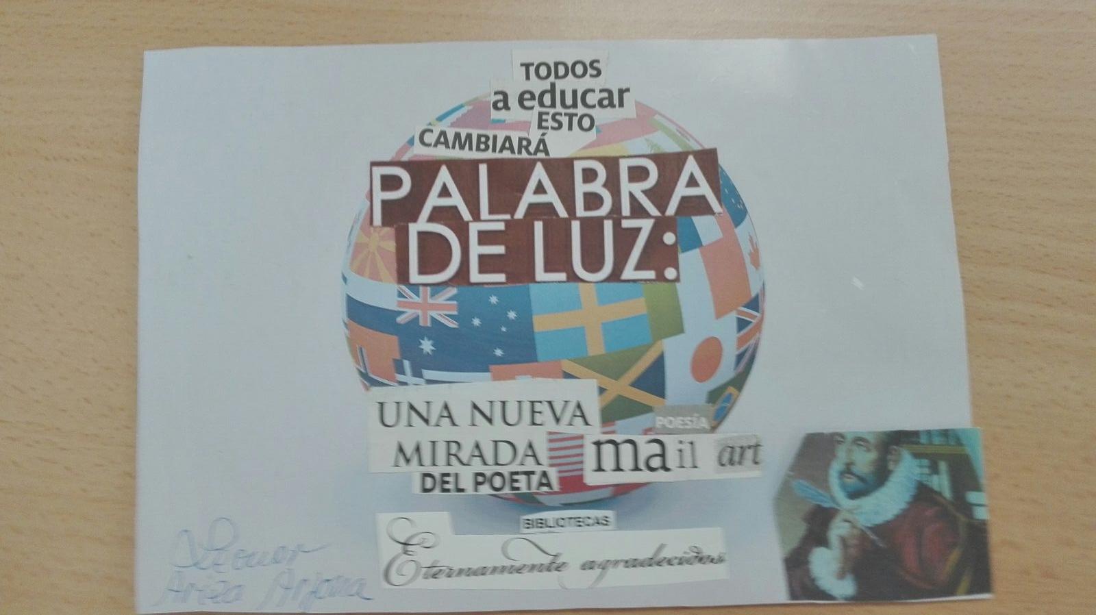Trabajo realizado para una Convocatoria de Mail Art y las Jornadas de Biblioteca en el CEP Luisa Revuelta (Córdoba)