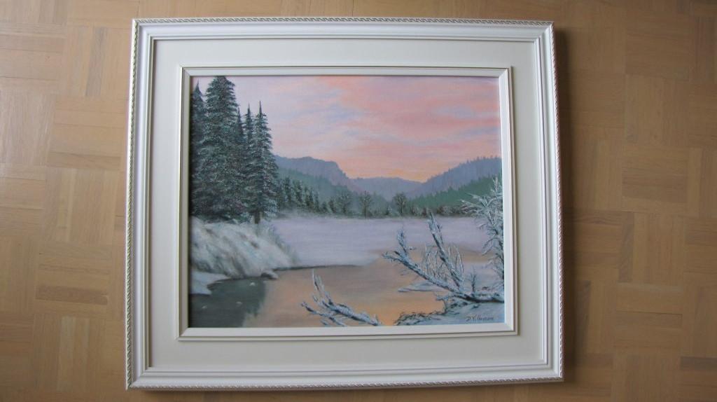 Ma première peinture à l'huile (16x20 po) (41x51 cm)