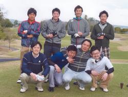 大学時のラグビー部OBとゴルフに行きました