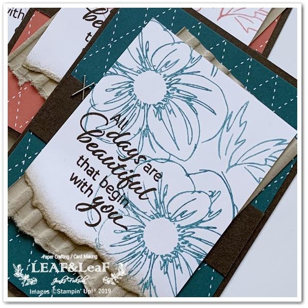 お花のスタンプで簡単手作りカード