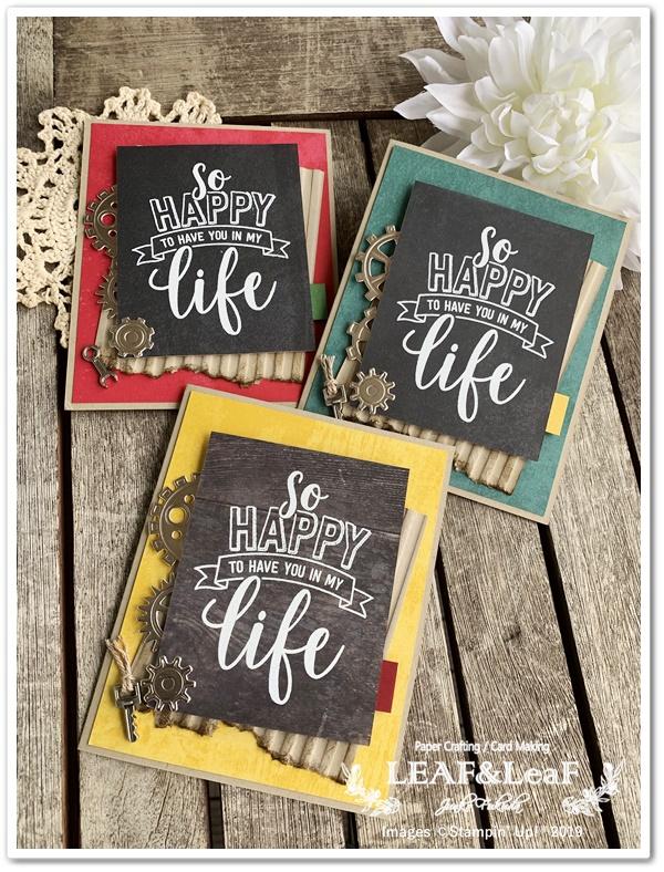 黒板風のメッセージカード