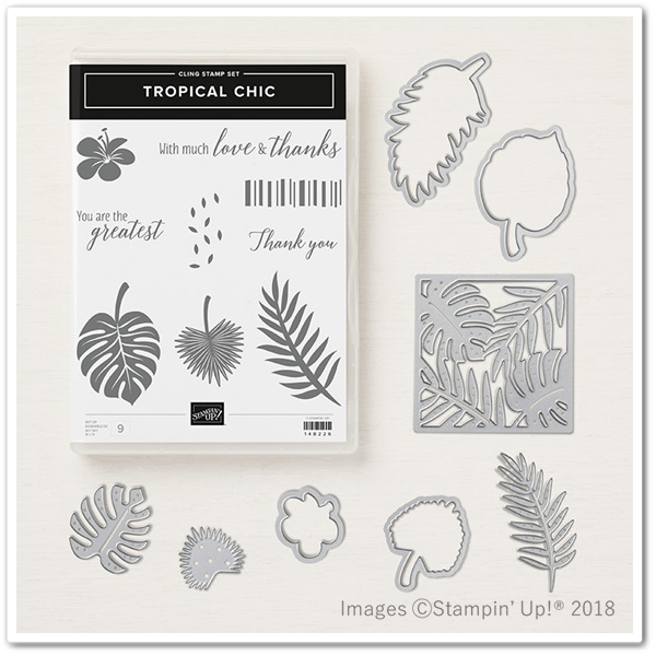 TROPICAL CHIC STAMP SET