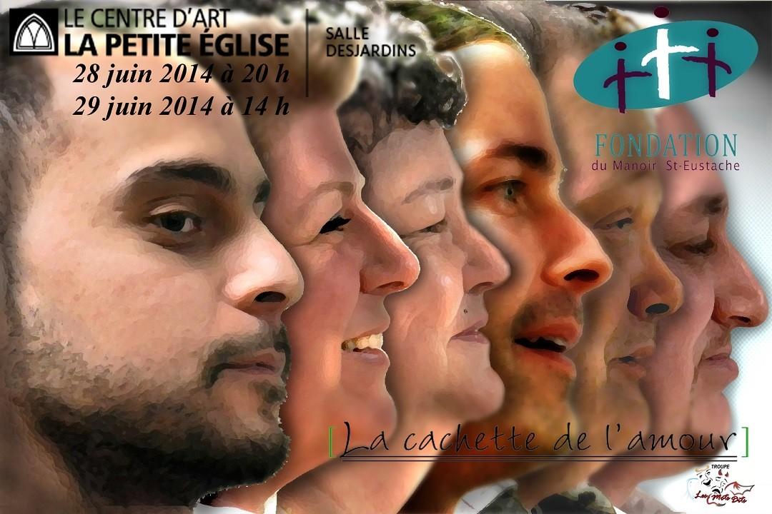 """Comédiens de la pièce """"La cachette de l'amour"""" présentée par la Troupe Les Mots Dits"""