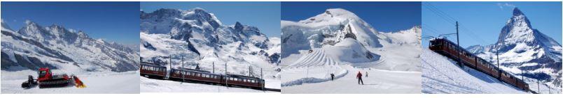 Sommer Skifahren Alpen