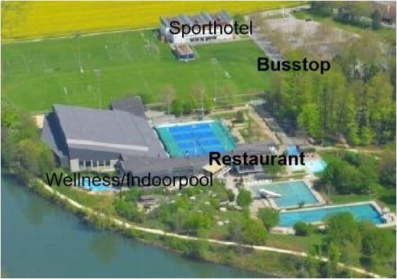Sportzentrum am sauberen Fluss - auch Anglerkurse