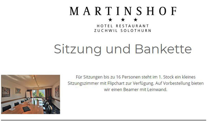 Preiswerter Seminarraum Solothurn nah - der Martinshof