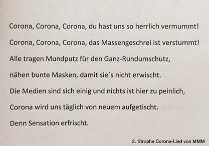 MMM (Coronalied: 2. Strophe (von 9) – alle dann beim Treffen ;-)