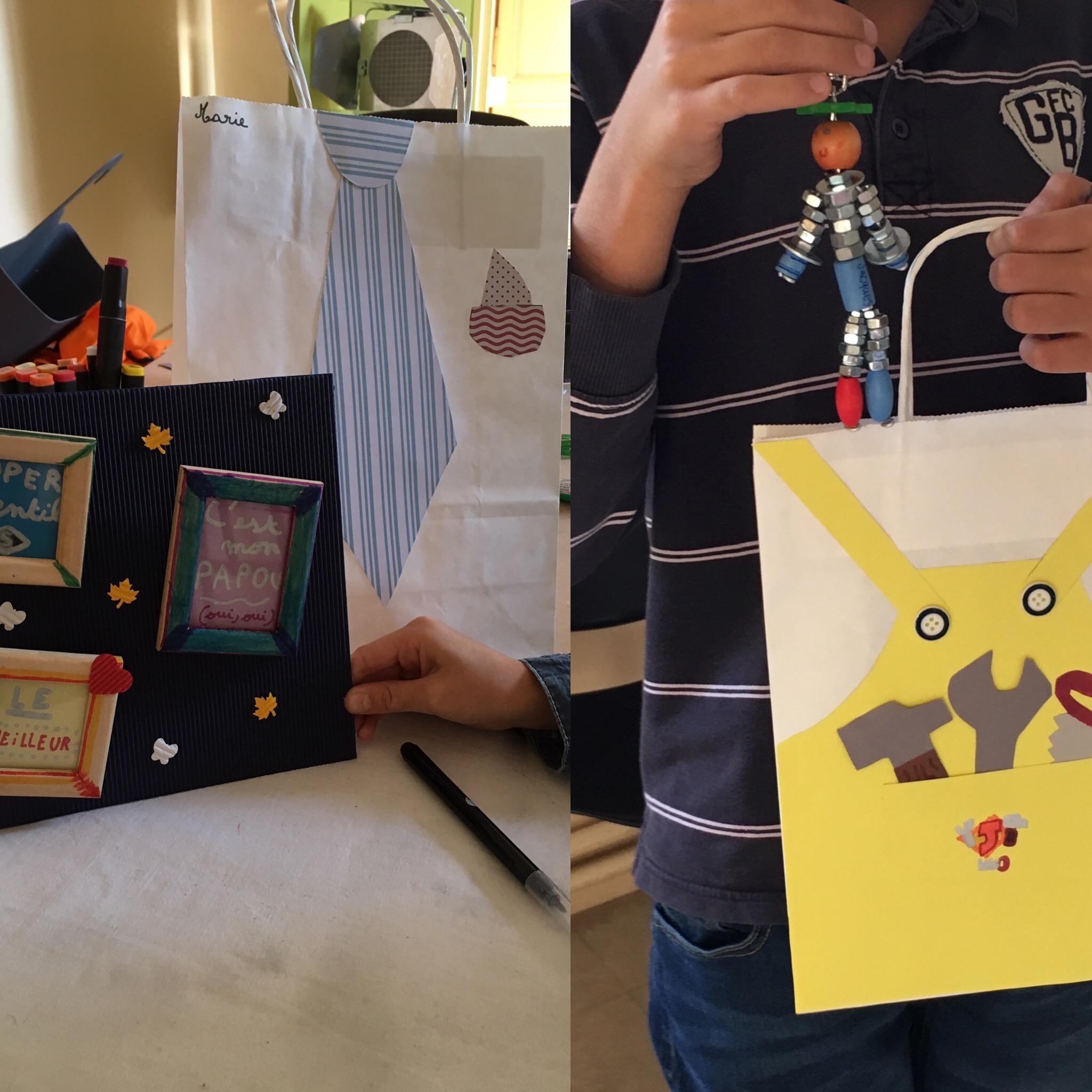 loisirs créatifs, activités manuelles pour enfants, cadeau pour grand-père