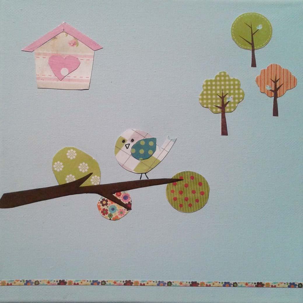 Petit tableau fait de chutes de papier