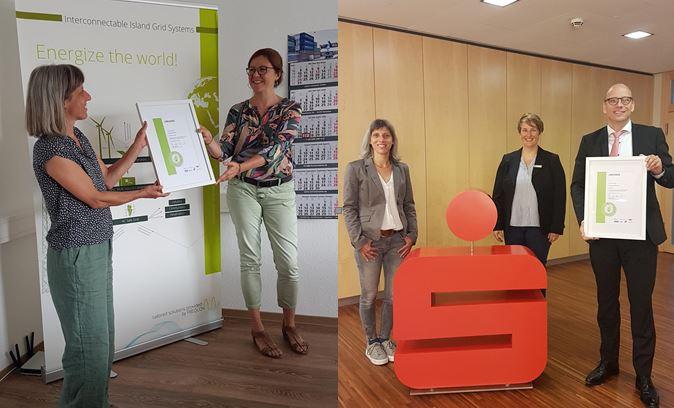 Kreissparkasse Soltau und FREQCON GmbH erhalten FaMi-Siegel