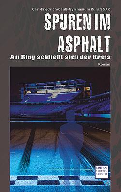 Cover Spuren im Asphalt.