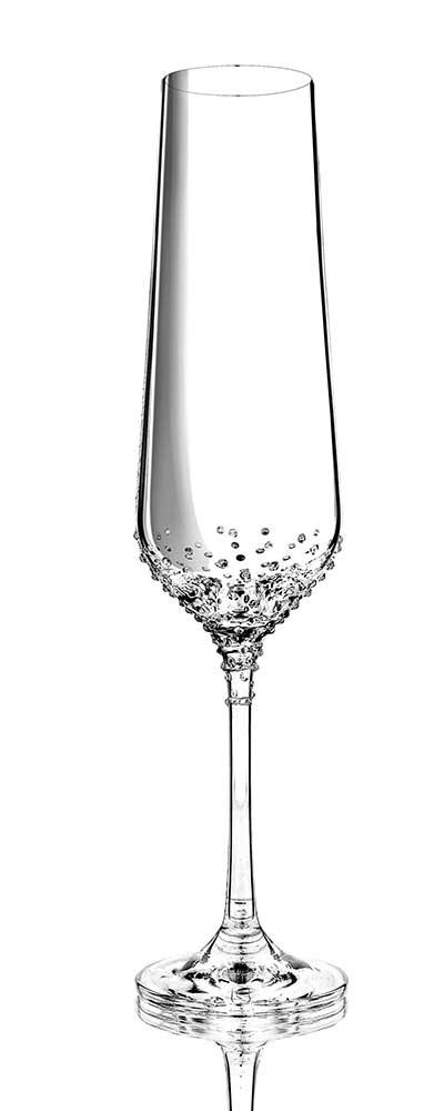 Sektglas Rhea veredelt mit hochwertiger Swarovski® Kristallen
