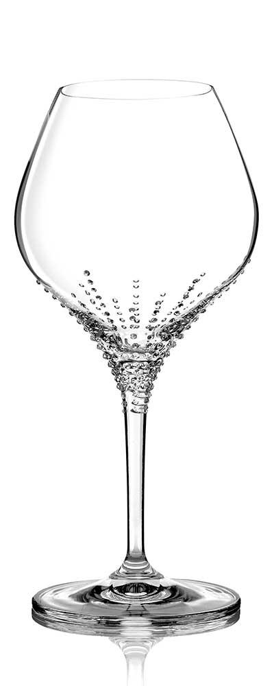Weinglas ENYO 280 ml mit Swarovski Steinen veredelt