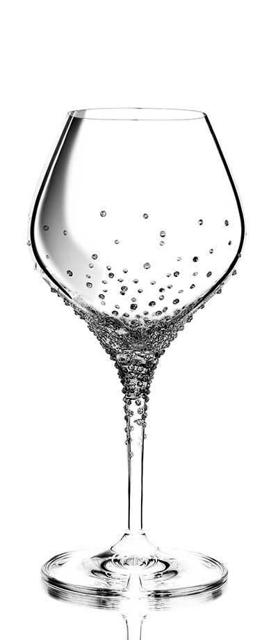 Weinglas Nemesis mit etwa 280 geschliffenen Swarovski®