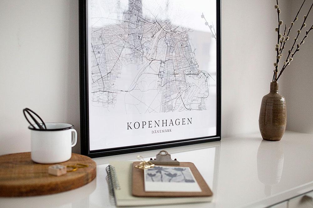 Poster Maps Geschenk Deutschland