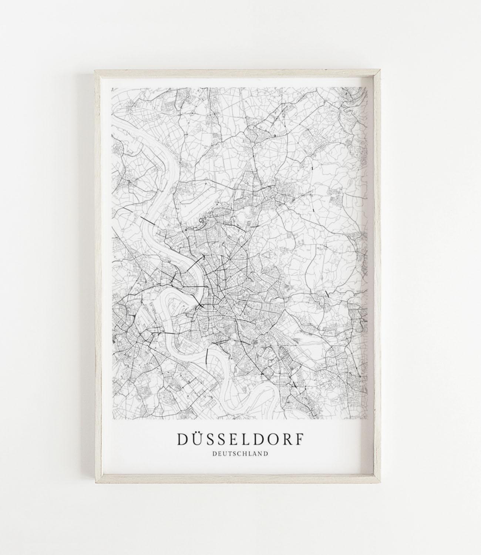 Düsseldorf Karte.Karte Düsseldorf