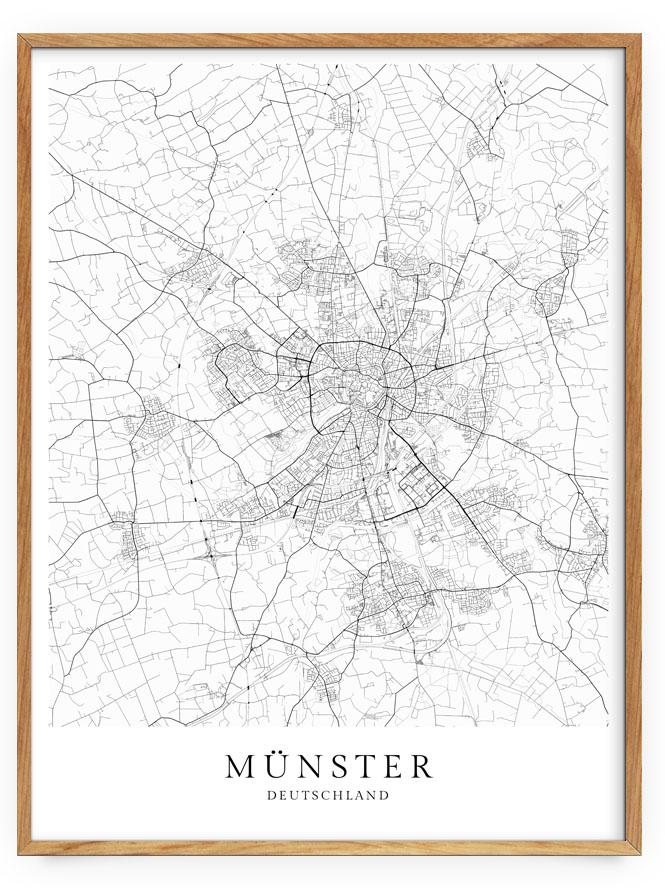Munster Karte Als Poster Skanemarie
