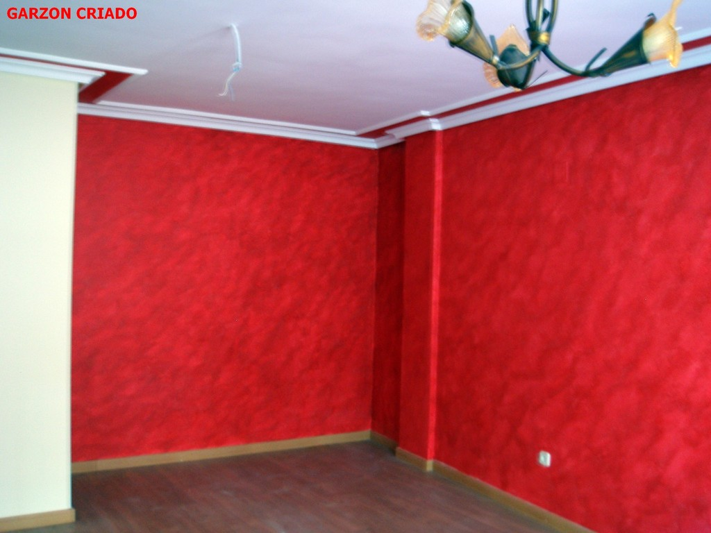 salon coral rojo