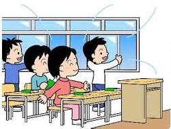 教室の換気