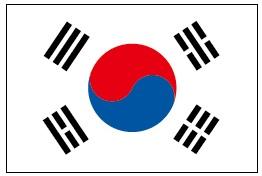 韓国の国旗(太極旗)