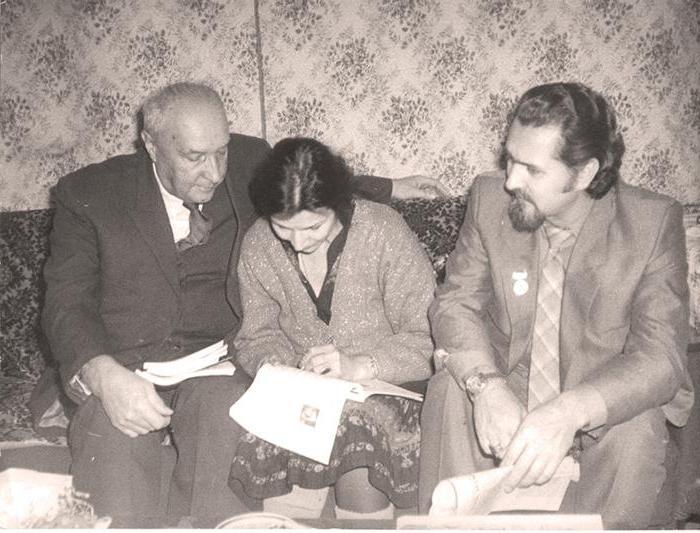 Встреча И. Бондаренко с А. Дубровской (гл. библиотекарь библиотеки им. А. Чехова) и Скребовым 1987 г.