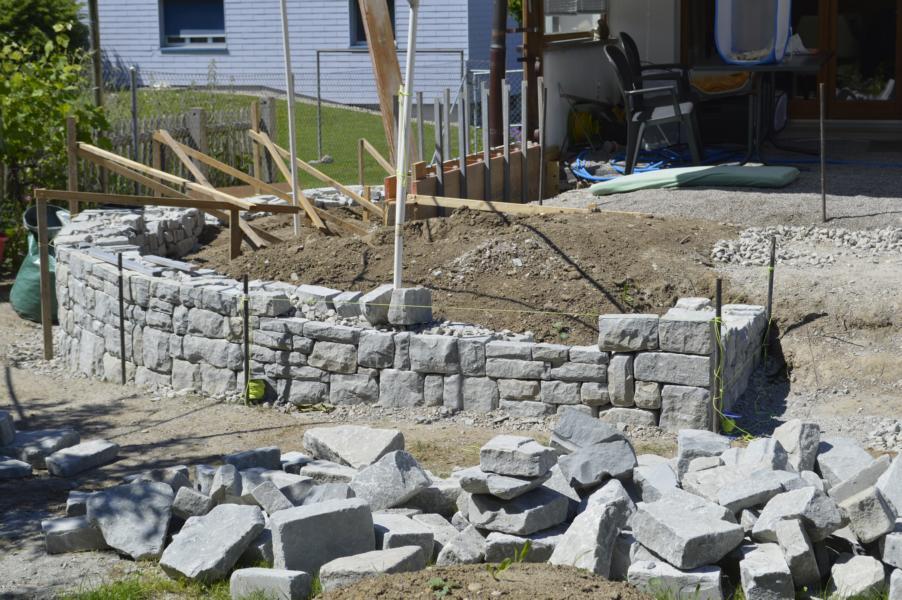 die Mauern im Bau