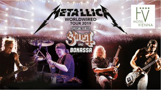 Metallica zu Fuß prater vienna hotel riesenrad messe wien schweizerhaus zentrum nähe günstig lage billig austria trend motel one praterstern Stadion Liliput Bahn Konzert Ernst Happel Stadion