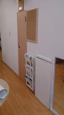 建具に壁紙を貼りました