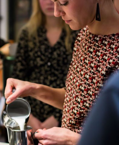 Barista workshop, teamuitje, bedrijfsuitje, coffee, latte-art, koffie workshop