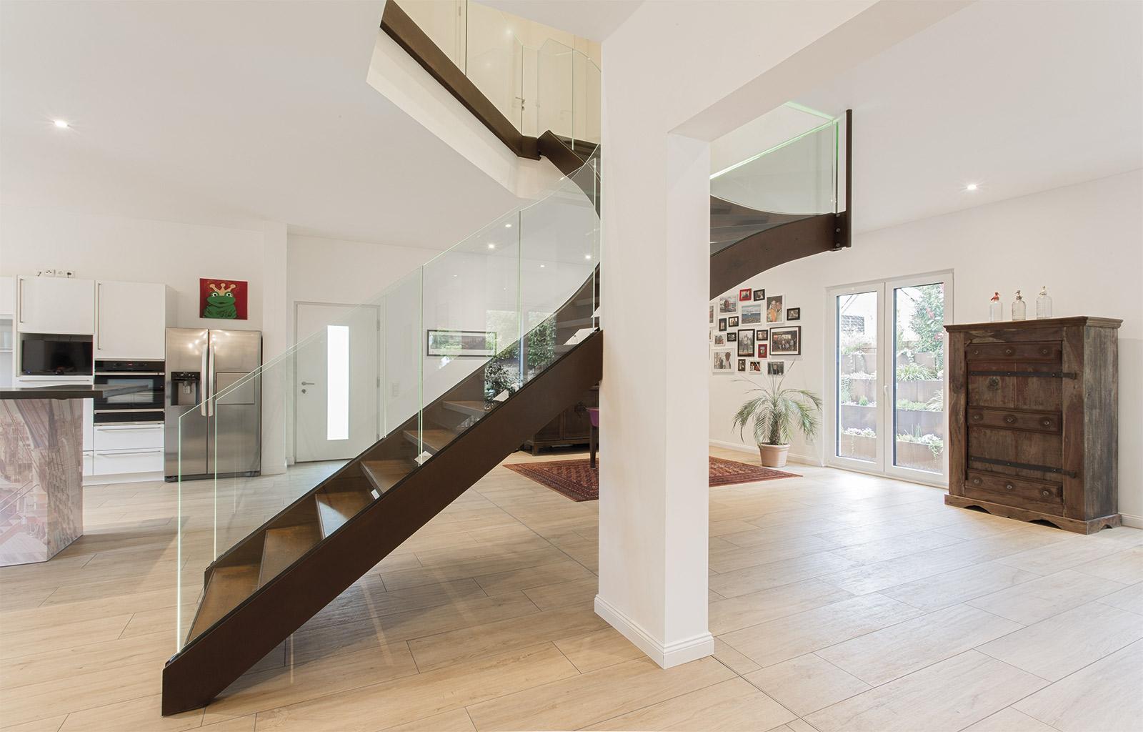 Freischwebende Treppe objekt 01 - frei schwebende treppe aus cortenstahl! - wanzenberg