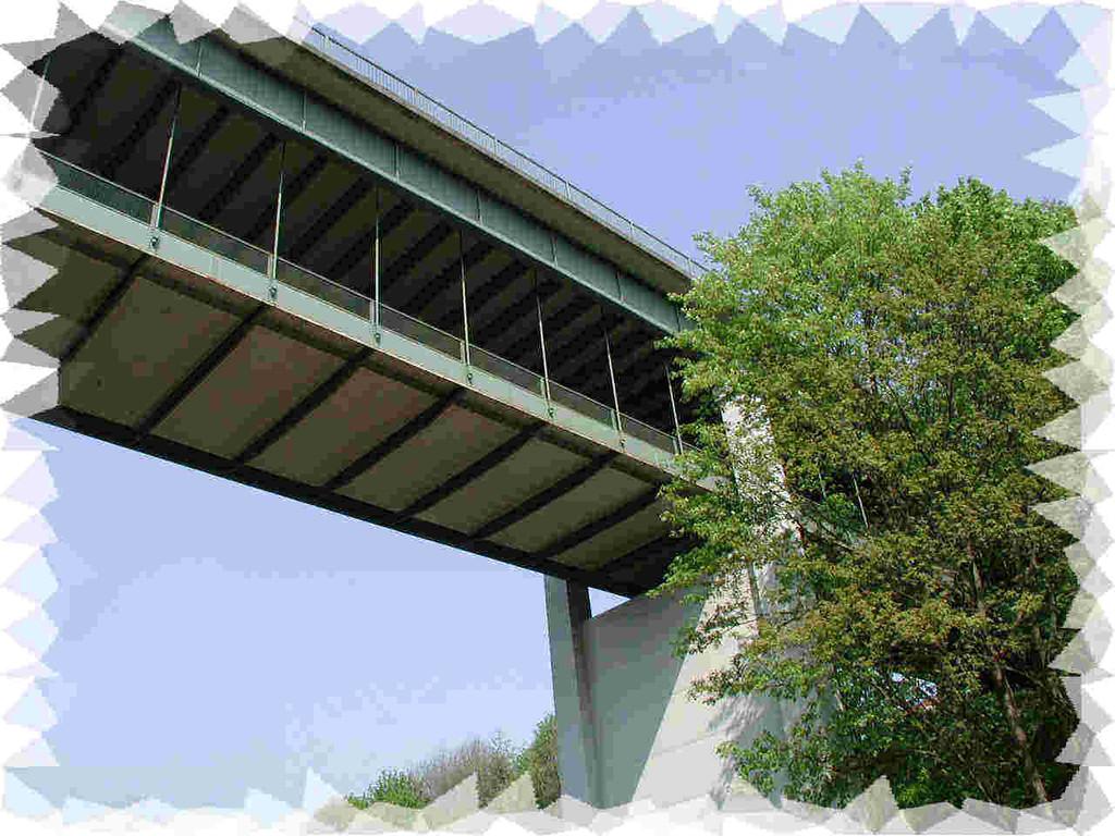 Die neue Wilhelmsbrücke von unten
