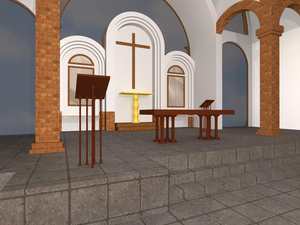 PROYECTO TEMPLO SANTA TERESA DE JESUS VISTA INTERIOR