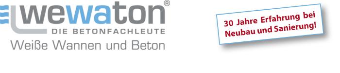 wewaton Bamberg | Die Betonfachleute | Weiße Wannen und Beton
