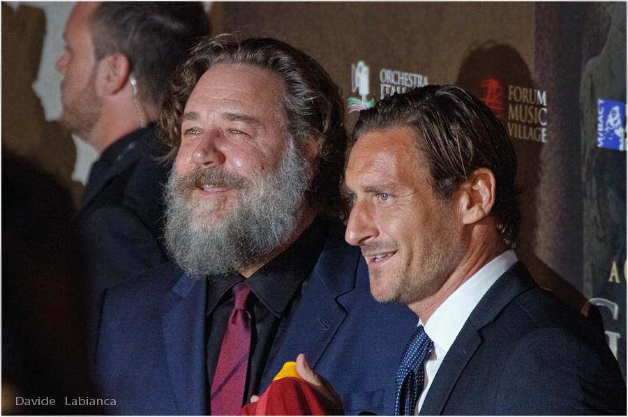 Russell Crowe e Francesco Totti