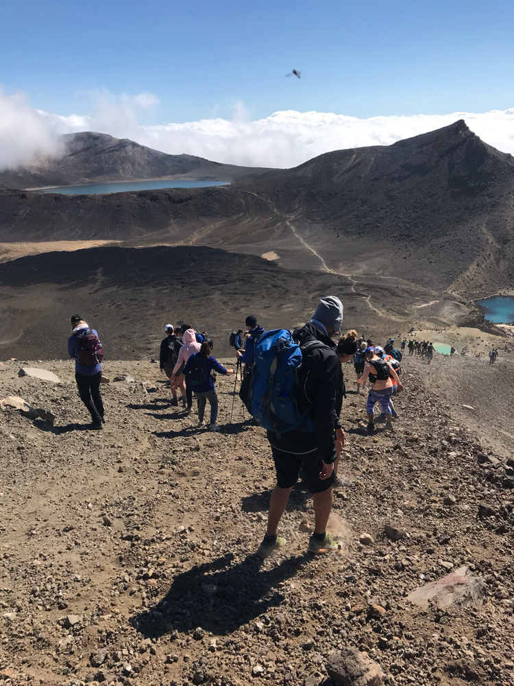 Abstieg beim Tongariro Crossing.