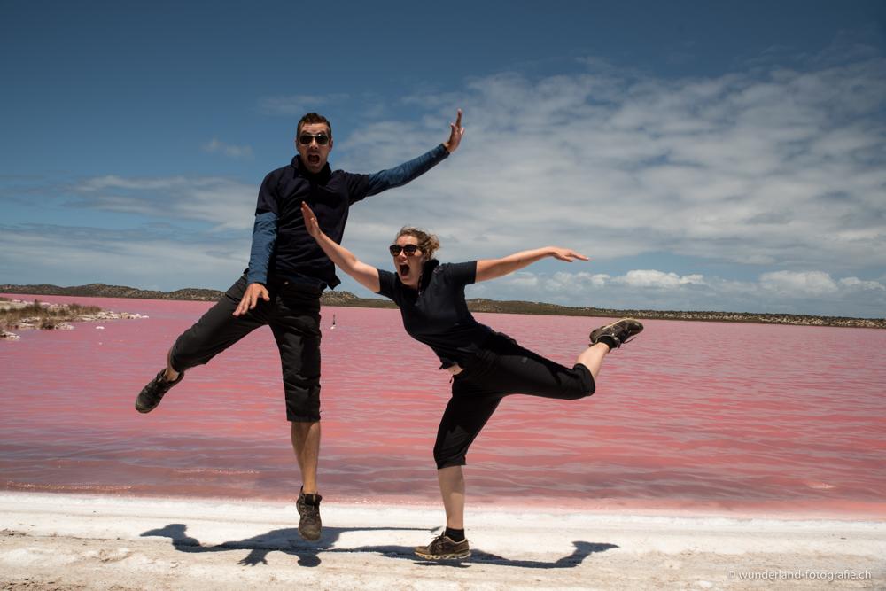 Spass am Pink Lake...